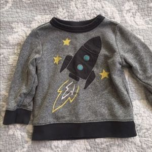 Adorable rocket lightweight boys sweatshirt